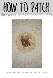 Repair Ceiling Hole by Patch A Drywall Hole And Popcorn Ceiling