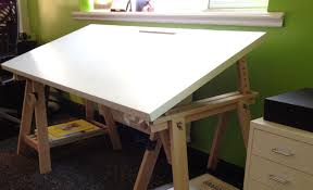 Folding Art Desk Drafting Table Ikea Hack Ikea Hackers New Customized Sewing Room