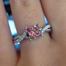colored engagement rings best 25 pink rings ideas on pink diamond ring pink