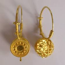 original earrings italian granulated gold basket earrings at 1stdibs