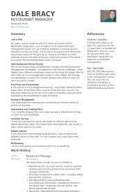 resume exles for restaurant restaurant manager resume sles visualcv resume sles database