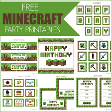 minecraft birthday party invitations templates minecraft party