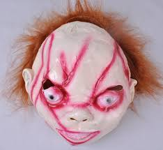 363m bride of chucky women man cosplay halloween party mask hair