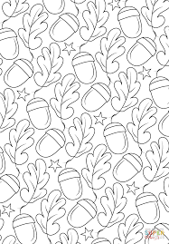 oak pattern coloring page free printable coloring pages