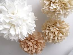 Bridal Shower Decor by 10 Tissue Paper Pom Poms Custom Colors Wedding Decorations