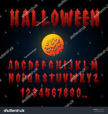 halloween font ancient alphabet blood gothic stock vector