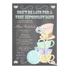 Wedding Shower Invites Mad Hatter Bridal Shower Invitations Zazzle Com