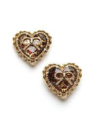large stud earrings betsey johnson large heart stud earrings1 jpg