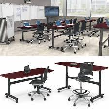 adjustable height training table balt adjustable height flipper table rectangle 72 w x 24 d x 28