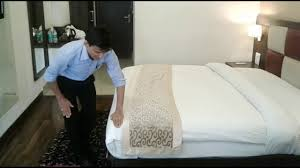 bed making bed making step by step in housekeeping youtube