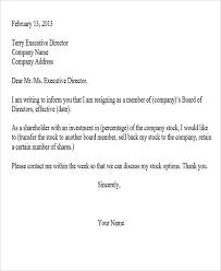 how to write a corporate resignation letter cover letter sample
