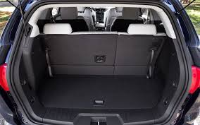 ford explorer trunk space three row crossover suvs comparison 2011 chevrolet traverse