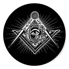 illuminati all seeing eye freemason symbol sticker