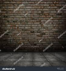 dark room tile floor brick wall stock photo 114278455 shutterstock