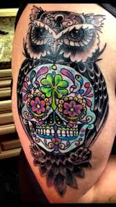 7neqi3q jpg 608 1079 tattoos sugar skull owl and
