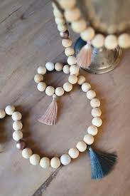 diy tassel and wood bead garland coco kelley coco kelley