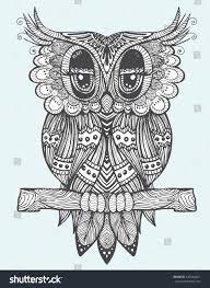 portrait owl owls head abstract bird stock vector 437296621