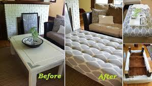 coffee table diy ottoman coffee table home designs ideas