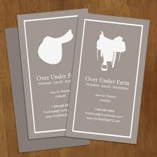 or western saddle business cards 100 pk the