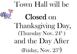 town of holderness nh town will be closed on thanksgiving