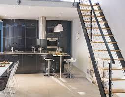 meuble de cuisine gris anthracite séjour ouvert avec meuble cuisine gris castorama