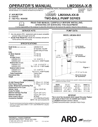 ingersoll rand lm2305a x b user manual 4 pages