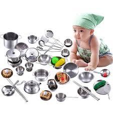 batterie cuisine enfant 16 25 32 40 pcs dollhouse miniature cuisine cuisine batterie de