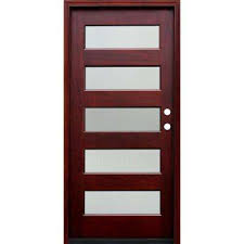 glass and wooden doors 36 x 80 modern doors with glass wood doors the home depot