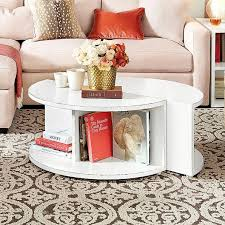 Pottery Barn Connor Coffee Table - divided white coffee table set
