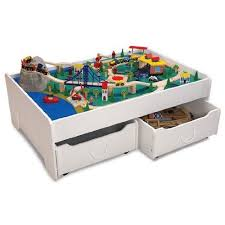 imaginarium metro line train table amazon amazon com kidkraft train table and trundle drawers toys games