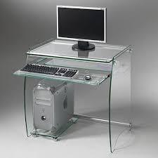 bureau transparent verre bureau en verre trempé cyber monday week side bureau en verre