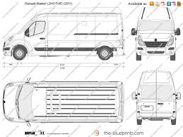 renault master 2011 the blueprints com vector drawing renault master l3h3 fwd