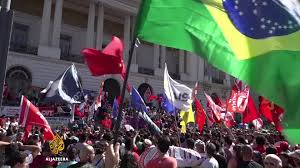 What Colour Is Brazil Flag Brazil An Inconvenient Protest For The Media Brazil Al Jazeera