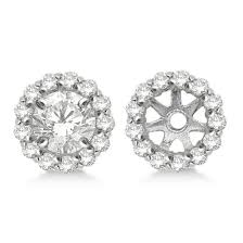 earring jackets for studs diamond earring jackets for 4mm studs 14k white gold 0 35ct