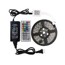 tape lights with remote wentop led strip lights kit dc 12v ul listed power supply non