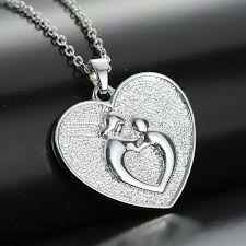 personalized necklaces for women silver plated personalized necklaces embrace heart pendant
