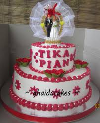 wedding cake sederhana ghaida cakes online shop wedding cake