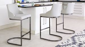 grey kitchen bar stools black chrome bar stool with backrest danetti uk