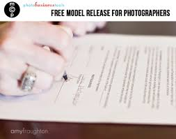 free model release form for photographersphotography model release