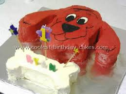 coolest homemade clifford the big red dog cakes