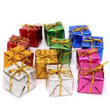 mini 12pcs christmas ornaments foam gift box xmas tree hanging