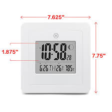 amazon com marathon cl030049wh digital wall clock with day date