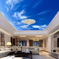 online get cheap hotel room themes aliexpress com alibaba group blue sky and white cloud 3d stereo ceiling mural wallpaper living room theme hotel interior decor