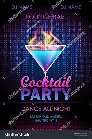 royalty free disco background cocktail party poster 213995140