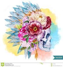 ethnic skull stock vector illustration of culture chief 51175870