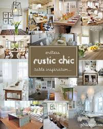 Dining Room Inspiration 14 Fabulous Rustic Chic Dining Tables Inspiration Picklee