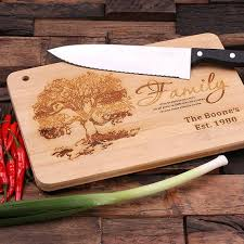 cutting board engraved wood cutting chopping board engraved and monogrammed family name