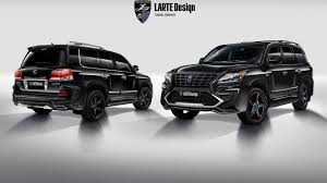 lexus tuning usa larte gives the lexus lx 570 an aggressive body kit