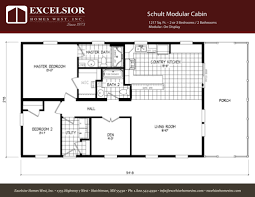 Floor Plans For Log Cabins Schult Modular Cabin Excelsior Homes West Inc
