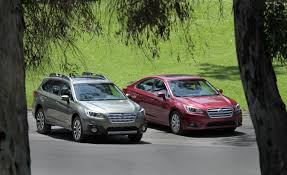 subaru outback green new car review 2015 subaru outback and 2015 legacy chicago tribune